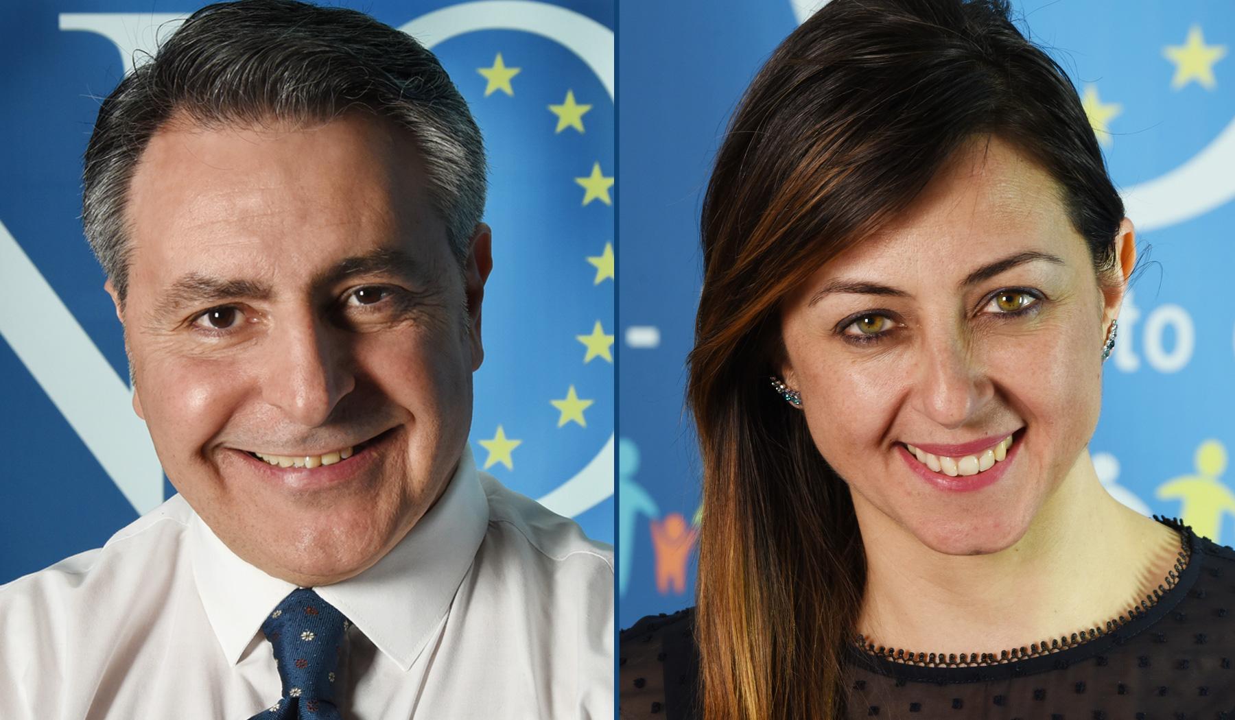 Fabio Gallo ed Eleonora Cafiero Movimento Civico NOI