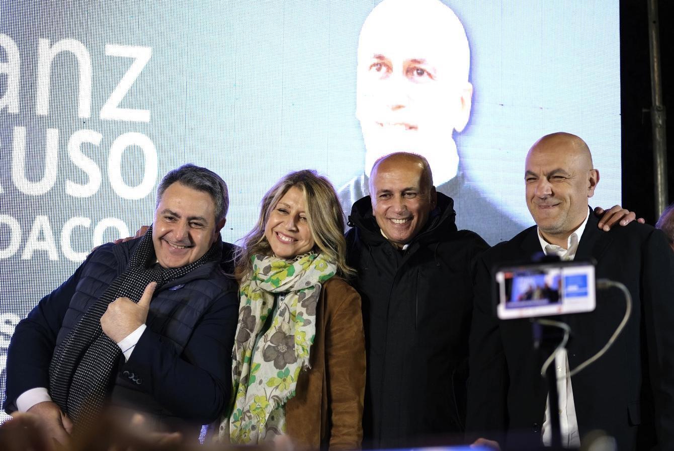 Da sx: Fabio Gallo, Bianca Rende, Franz Caruso, Francesco De Cicco